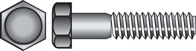 Hillman  5/16 in. Dia. x 3 in. L Hot Dipped Galvanized  Steel  Hex Bolt  100 pk