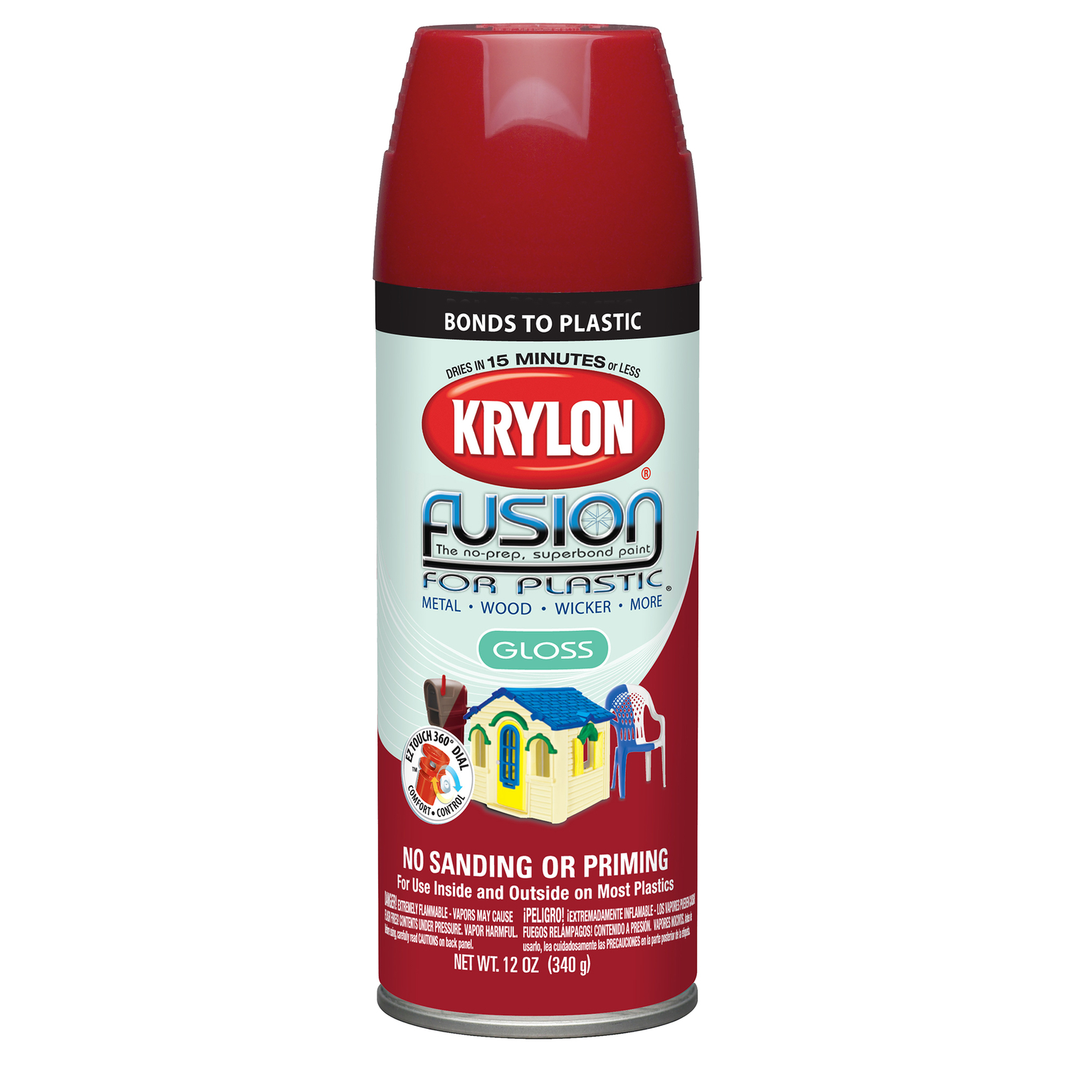 Krylon  Gloss  Fusion Spray Paint  12 oz. Sun Dried Tomato