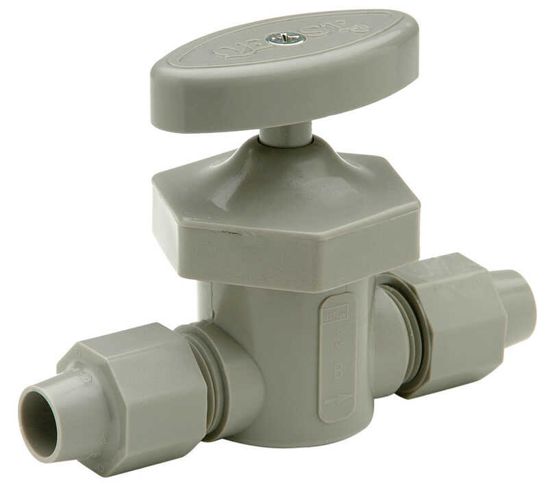 Zurn  Qest  1/4 in. 1/4 in.  Plastic  Shut-Off Valve