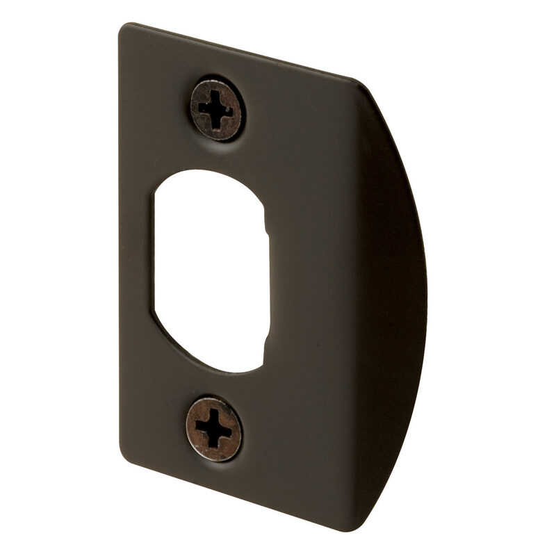 Prime-Line  2.25 in. H x 5 in. L Classic Bronze  Steel  Latch Strike Plate
