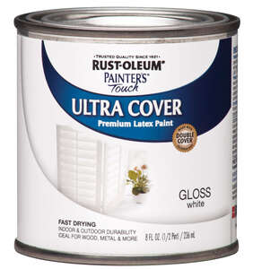 Rust-Oleum  Painters Touch Ultra Cover  Indoor and Outdoor  Gloss  White  0.5 oz. Paint