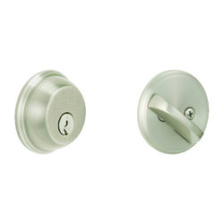 Schlage  Satin Nickel  Zinc  Single Cylinder Deadbolt