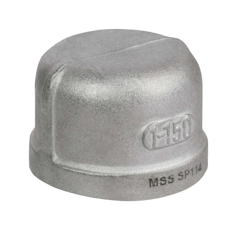 Smith-Cooper  1-1/2 in. FPT   x 1-1/2 in. Dia. FPT  Stainless Steel  Cap