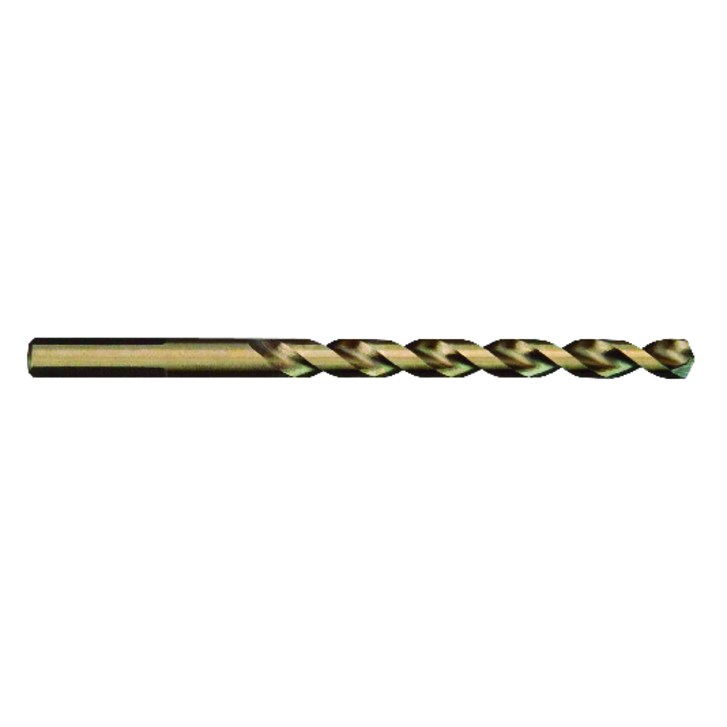 Milwaukee  RED HELIX  1/4 in. Dia. x 4 in. L Drill Bit  THUNDERBOLT  1 pc. Cobalt Steel  3-Flat Shan