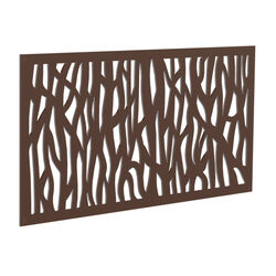 Xpanse  Sprig  2 ft. W x 4 ft. L Brazilian Walnut  Polymer  Screen Panel