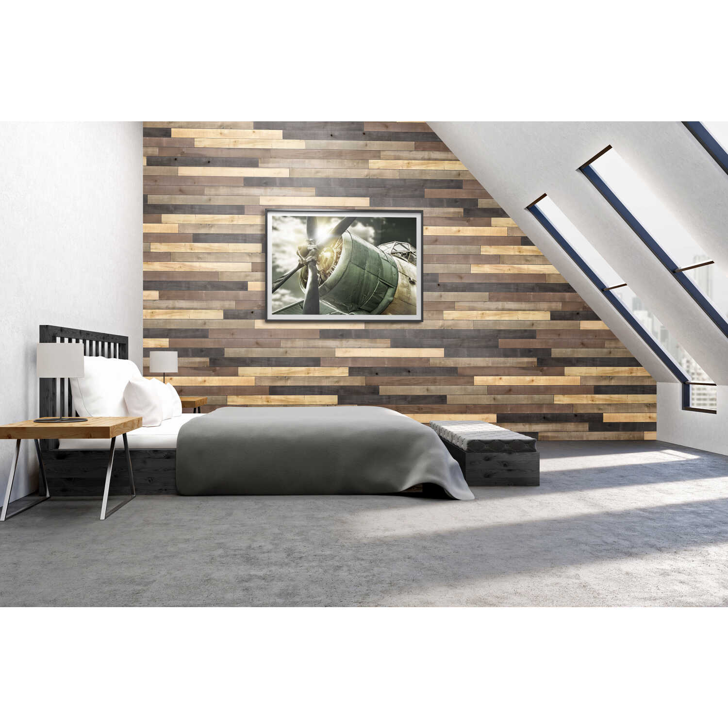 UFP-Edge  Weathered  1 in. H x 4 in. W x 48 in. L Wood  Wall Boards