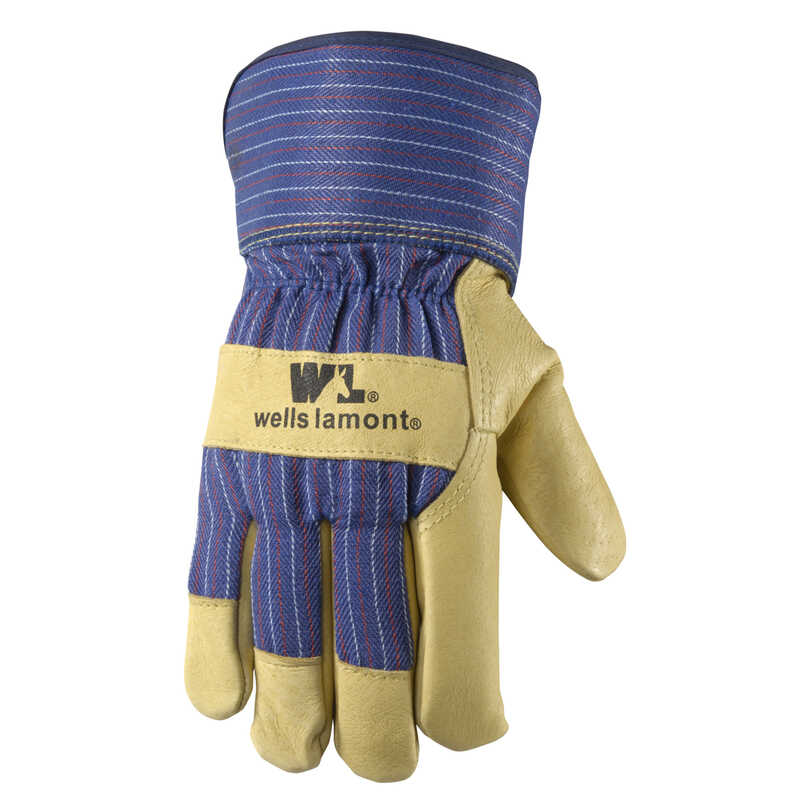 Wells Lamont  Men's  Pigskin  Work  Gloves  M  Palomino