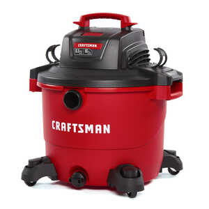 Craftsman  16 gal. Corded  6-1/2 hp 12 amps 120 volt Red  27 lb. 1 pc. Wet/Dry Vacuum