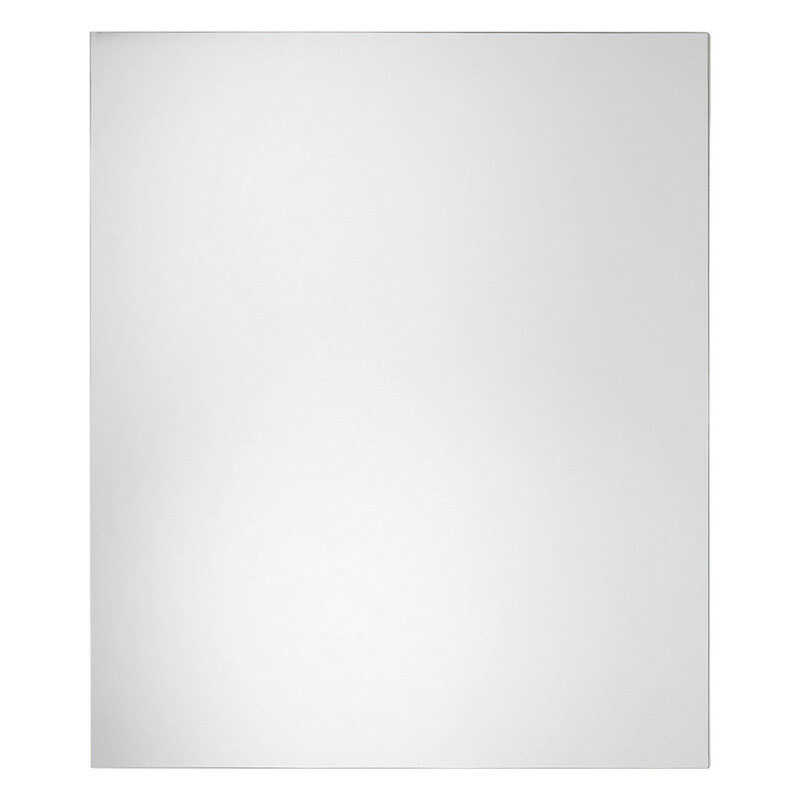 Erias  24 in. H x 20 in. W Silver  Glass  Mirror