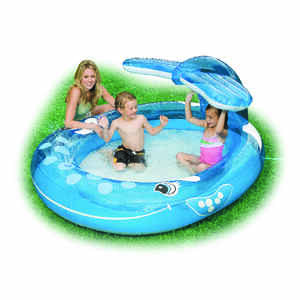 Intex  55 gal. Round  Inflatable Pool  42 in. H x 62 in. W x 82 in. L
