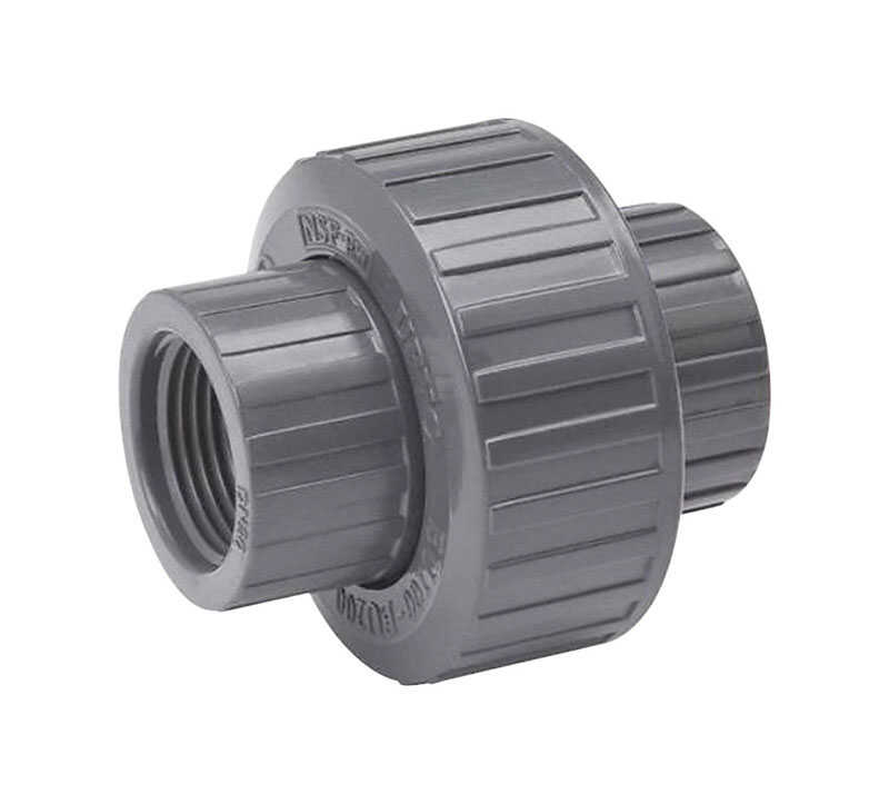 B & K  ProLine  Schedule 80  3/4 in. FPT   x 3/4 in. Dia. Threaded  PVC  Union