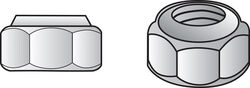 Hillman  1/4 in. Stainless Steel  SAE  Nylon Lock Nut  50 pk
