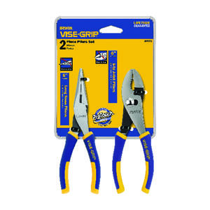 Irwin  Vise-Grip  2 pc. Alloy Steel  Professional Pliers Set  6 in. L Blue