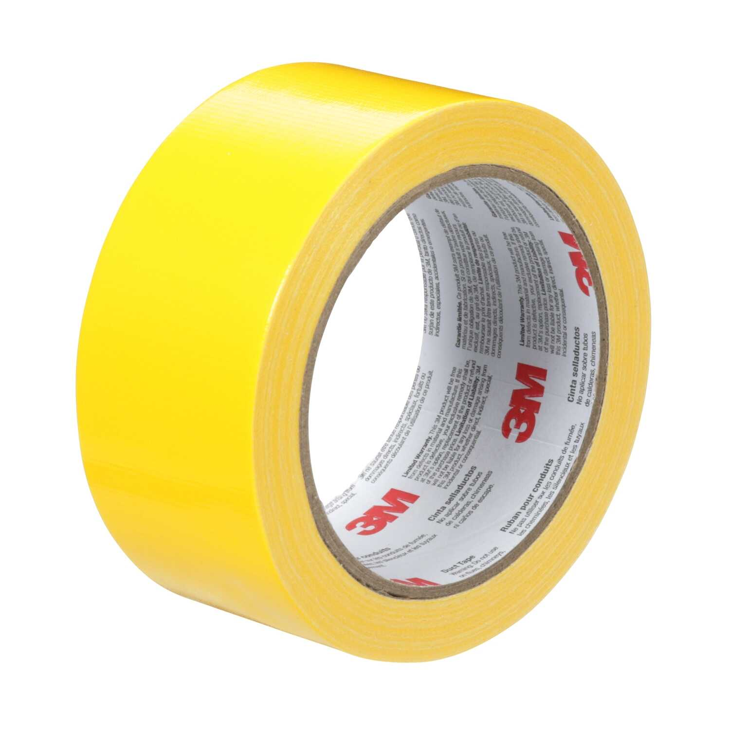 Scotch  1.88 in. W x 20 yd. L Yellow  Solid  Duct Tape