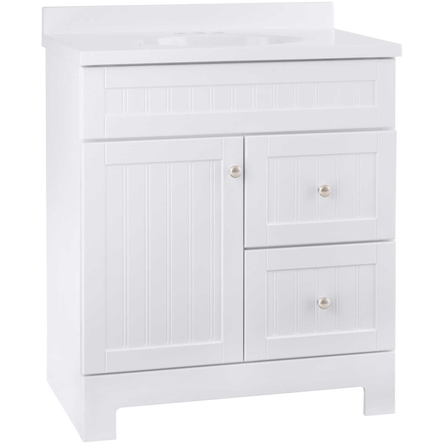Continental Cabinets  Edgewater  Single  White  Vanity Combo  33-1/2 in. H x 30 in. W x 18 in. D