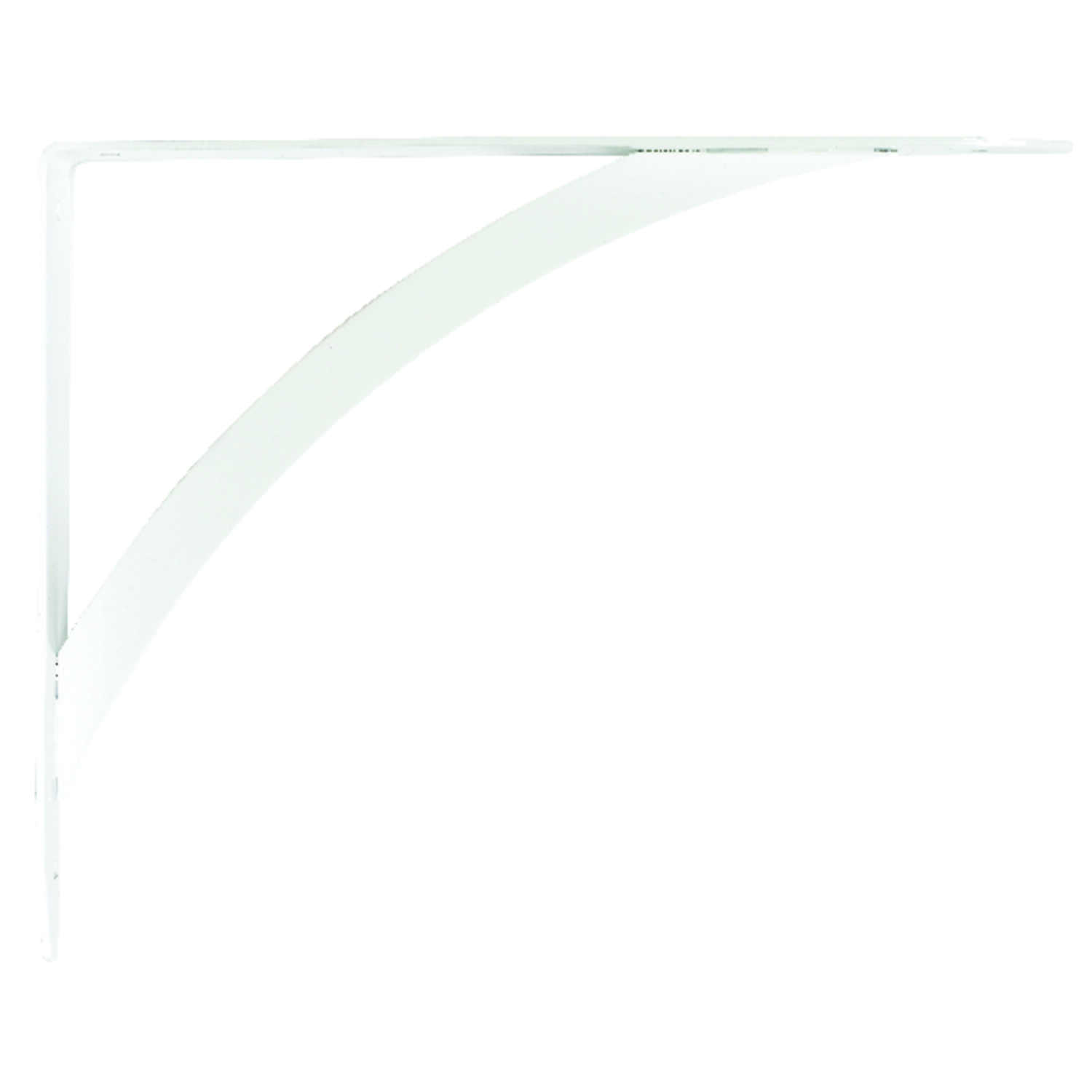 Knape & Vogt  John Sterling  White  White  Steel  12 Ga. 10 in. L Bracket