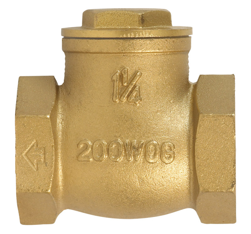 Mueller  1-1/4 in. Dia. 1-1/4 in. IPS  Brass  Swing  Check Valve