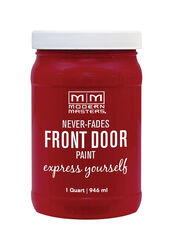 Modern Masters  Satin  Passionate  Water-Based  Front Door Paint  Outdoor  1 qt.