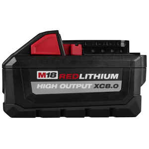 Milwaukee  M18 REDLITHIUM  XC8.0  18 volt 8 Ah Lithium-Ion  High Output  Battery Pack  1 pc.