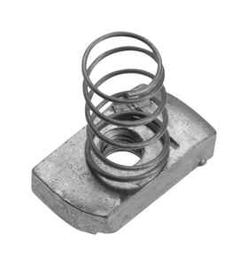 Unistrut  3/8 in. Dia. Steel  Spring Nut  For IMC 1 pk