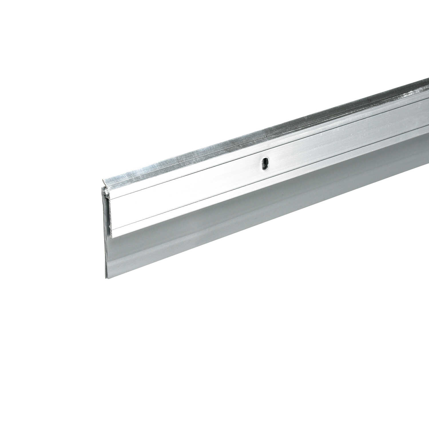 Frost King  2 in. W x 36 in. L Bright  Aluminum  Door Sweep  Silver