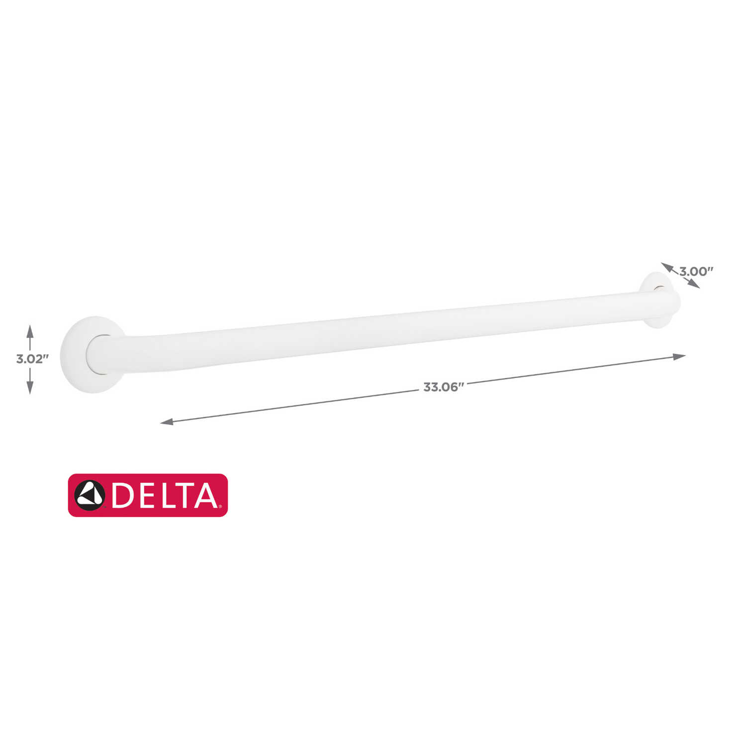 Delta  36 in. L ADA Compliant Stainless Steel  Grab Bar