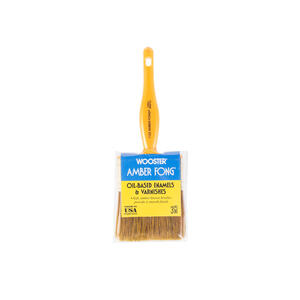 Wooster  Amber Fong  3 in. W Flat  Brown China Bristle  Paint Brush