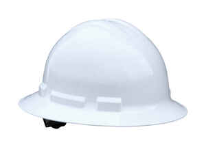 Radians  Quartz  Polyethylene  Full Brim  Hard Hat  White  1 pk