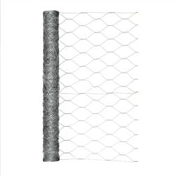 Garden Zone  24 in. H x 25 ft. L 20 Ga. Silver  Poultry Netting