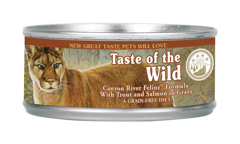 Taste of the Wild  Canyon River Feline  Trout and Salmon  Minced  Cat  Food  Grain Free 3 oz.