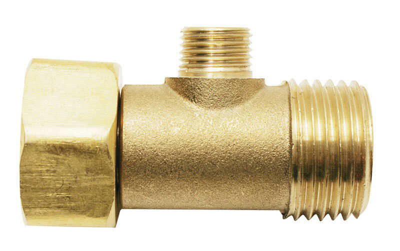 Ace  1/2 in. FIPT   x 3/8 in. Dia. Male Compression  Brass  Add A Tee Adapter