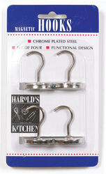 Harold's Kitchen  1-1/4 in. L Silver  Steel  Magnetic Hooks