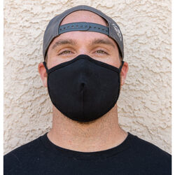 212  Double Layer Cotton  Face Mask  Black  1 pc.