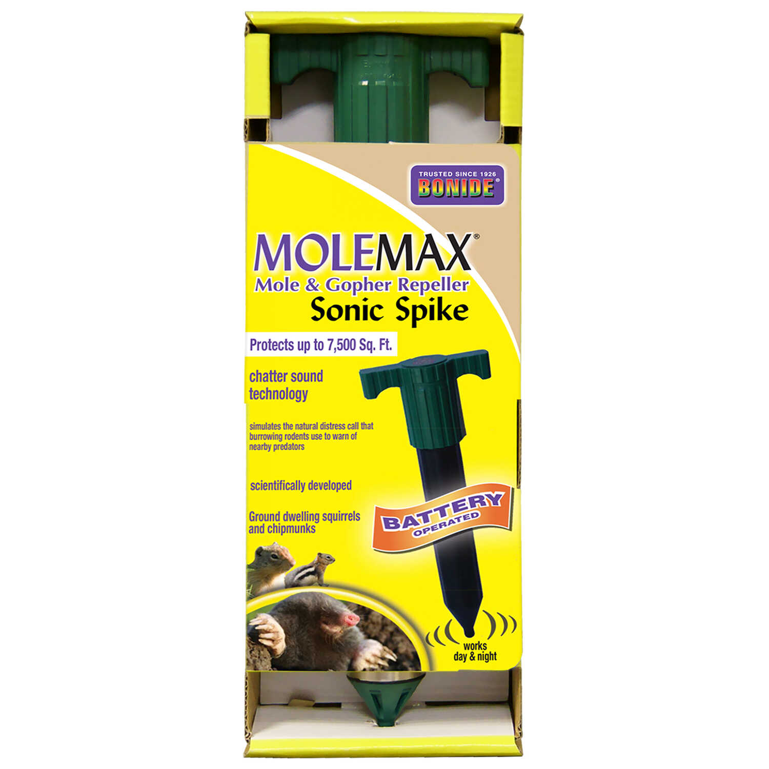 Molemax  Mole Max  Animal Repellent  Stake  For Gophers and Moles