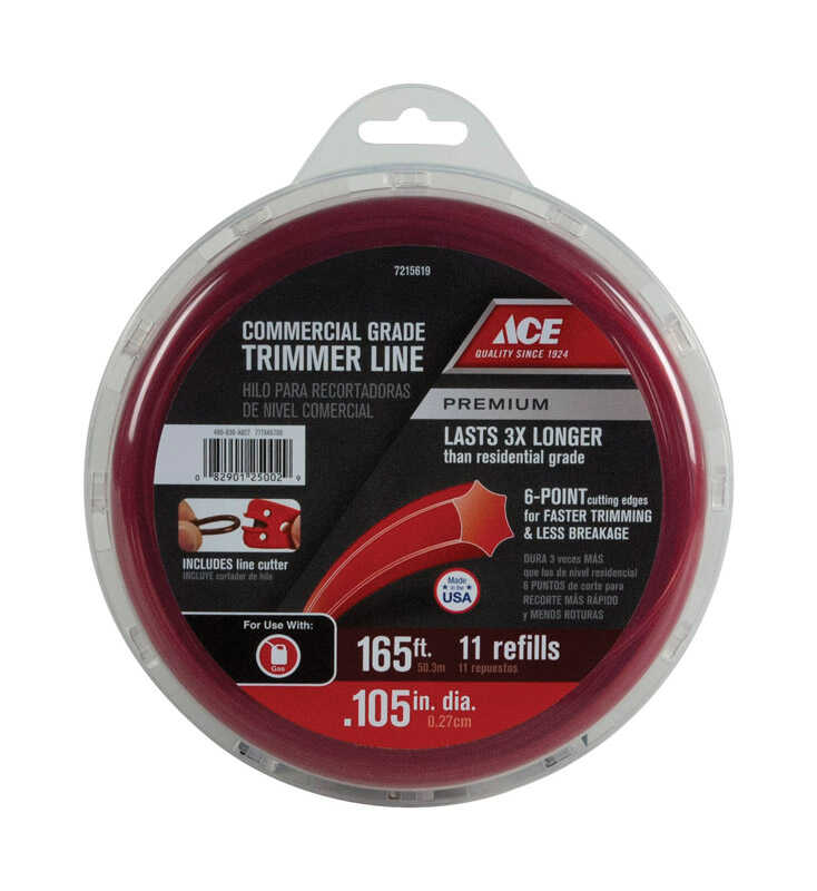 Ace  Commercial Grade  0.105 in. Dia. Trimmer Line