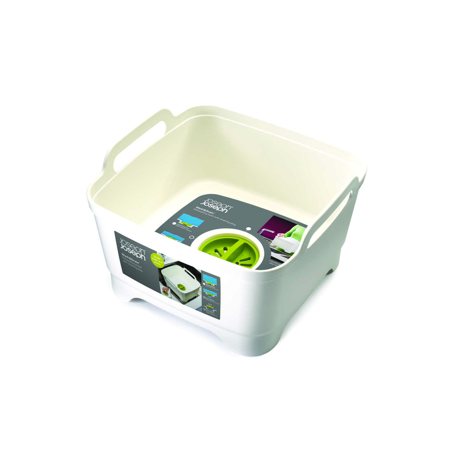 Joseph Joseph  Wash and Drain  12 in. W x 12 in. L Wash Tub W/Drain Plug