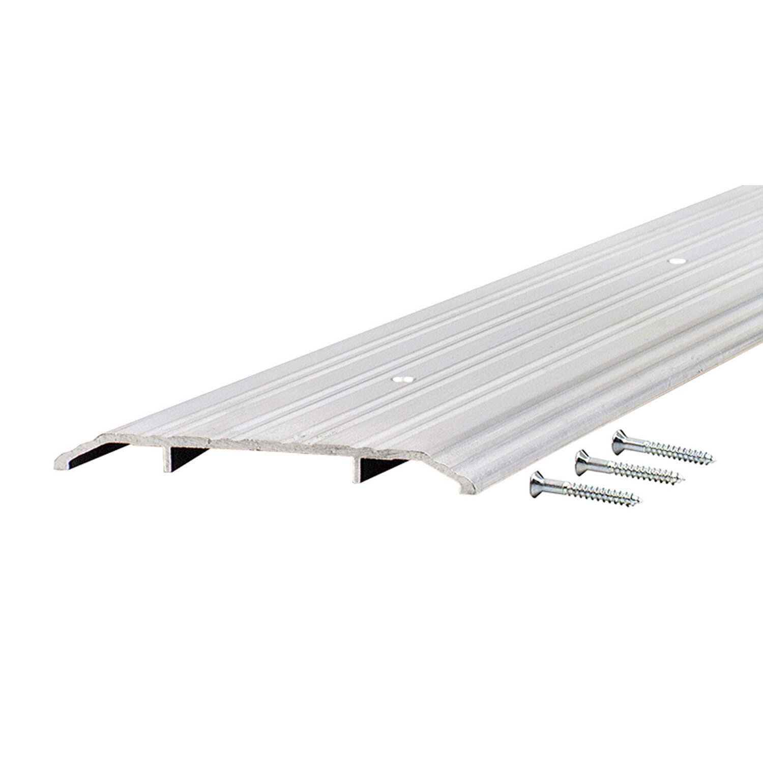 M-D Building Products  6 in. W x 72 in. L Silver  Aluminum  Fluted Saddle Threshold