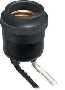 Leviton  Aluminum  Medium Base  Outdoor Socket  1 pk