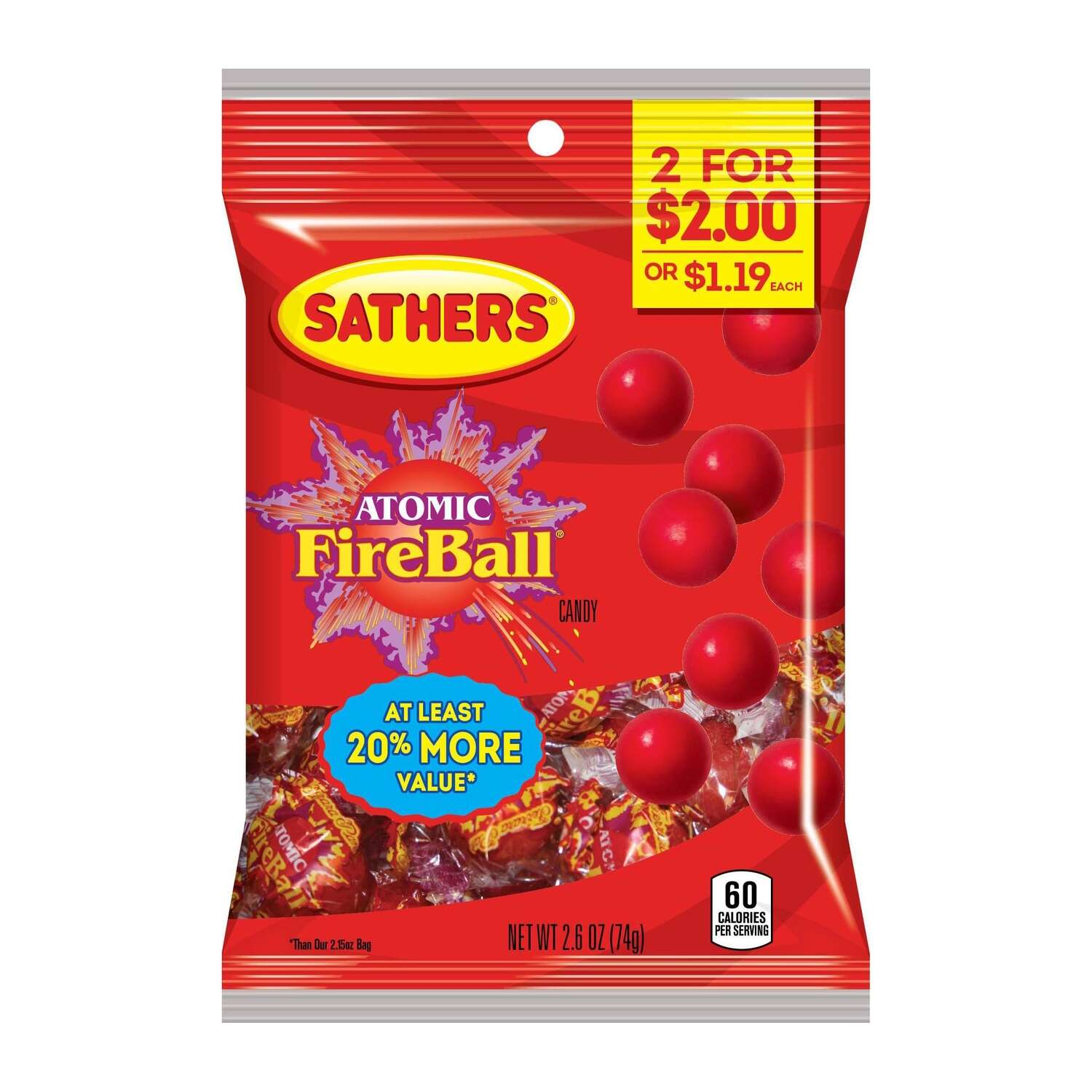 Sathers  Atomic Fireball  Hard Candy
