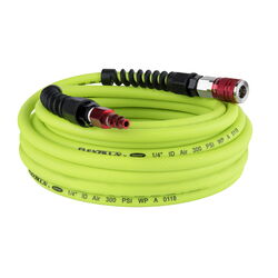 Flexzilla  Pro  50 ft. L x 1/4 in. Dia. Hybrid Polymer  Air Hose Kit  300 psi Zilla Green