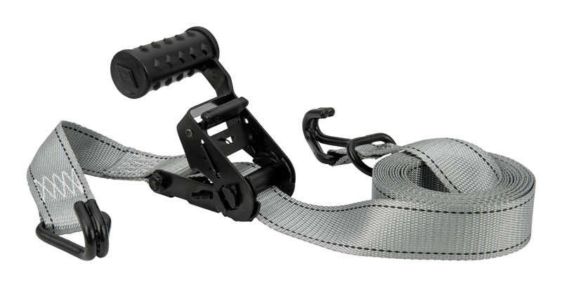 Keeper  12 in. W x 12 ft. L Gray  Tie Down Strap  1000 lb. 1 pk
