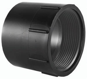 Charlotte Pipe  1-1/2 in. Hub   x 1-1/2 in. Dia. FPT  ABS  Adapter