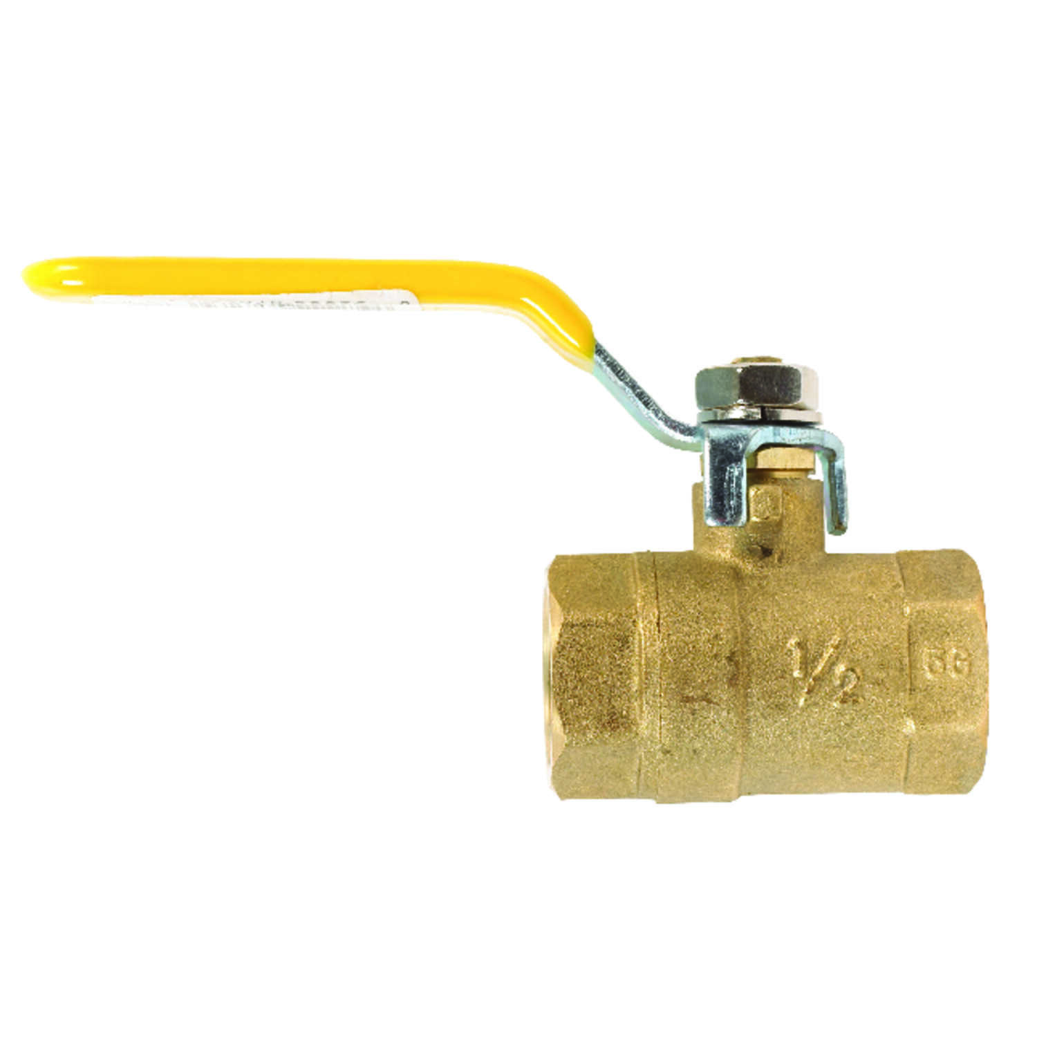 Mueller  Ball Valve  1/2 in. FPT   x 1/2 in. Dia. FPT  Brass  Packing Gland