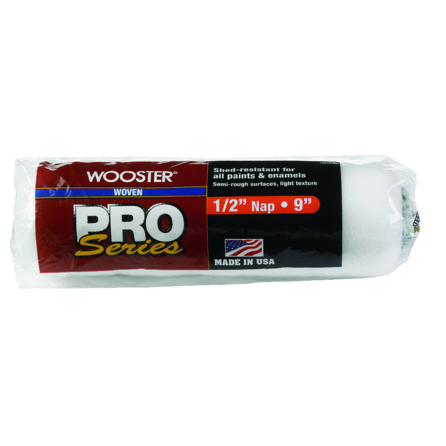 Wooster  Pro Series  Fabric  1/2 in.  x 9 in. W Paint Roller Cover  1 pk