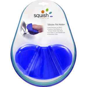 Squish  Blue  Silicone  Pot Holder  1 pk