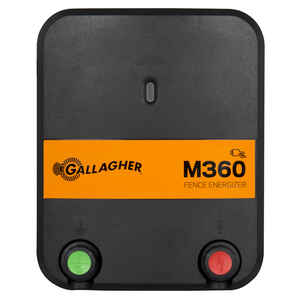 Gallagher  M360  110 volt Electric  Fence Energizer  55 mi. Black/Orange