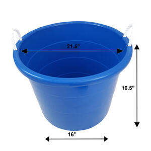 Homz  17 gal. Bucket  Blue