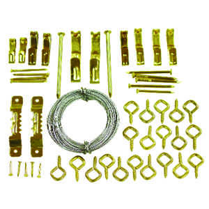HILLMAN  OOK  Conventional  Picture Hook Kit  50 pk Steel