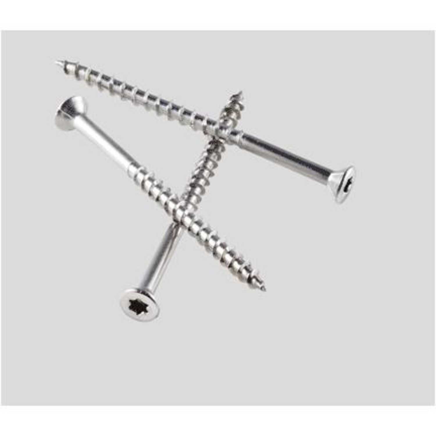 Simpson Strong-Tie  No. 10   x 3-1/2 in. L Lobe  Flat  Coated  Stainless Steel  Deck Screws  4.5 lb.