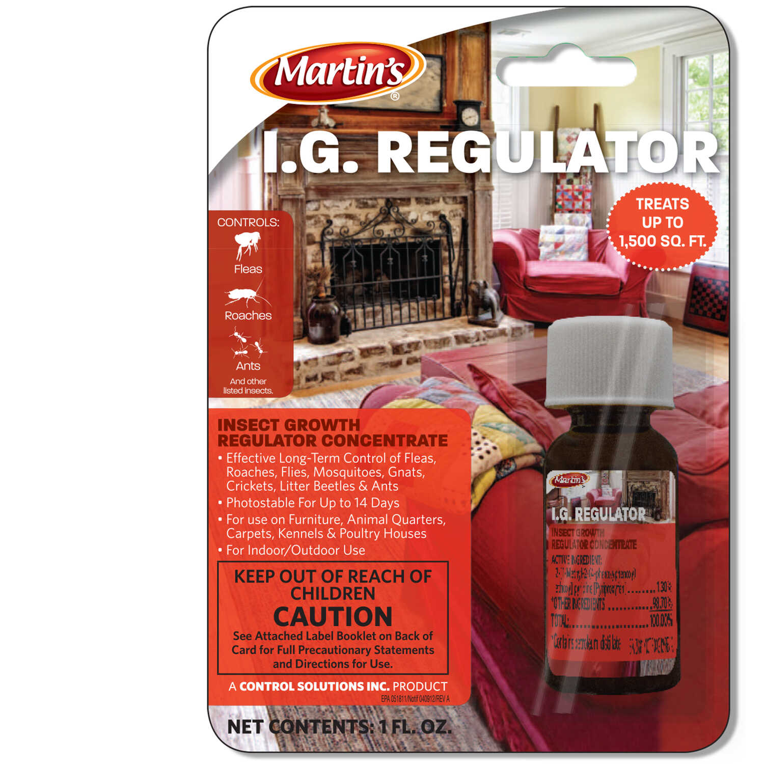 Martin's  I.G. Regulator  Insect Killer  1 oz.